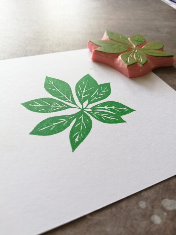 , dwarf leaf stamp, hawaiian decorative ephemera, art journal, potted plant, plant lover gift,
