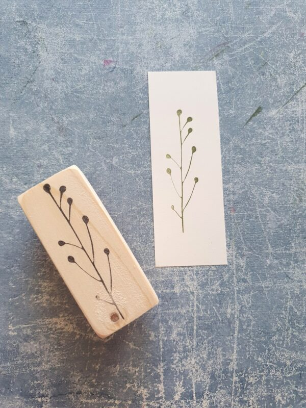 twig rubber stamp