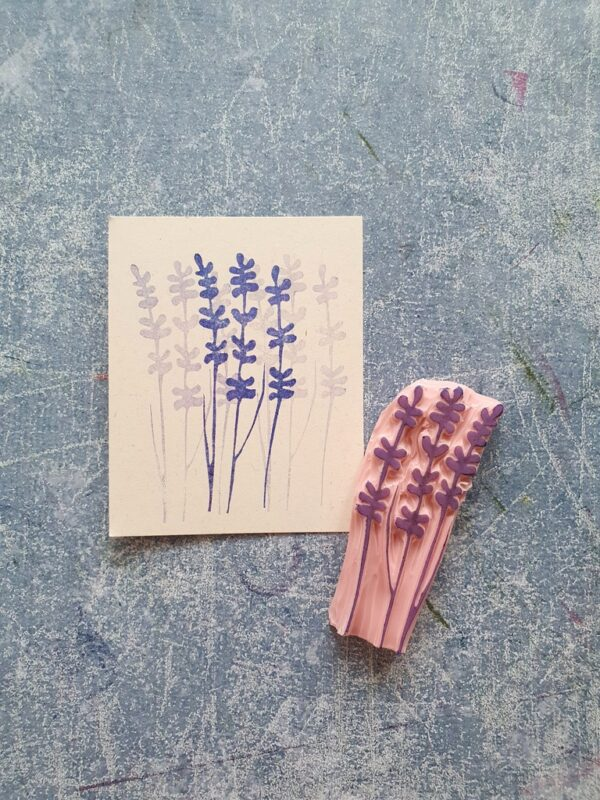 Lavender rubber stamp for shabby style journal, lavender plant stamp for junk journal, provansal decor, twig stamp, boho party decor