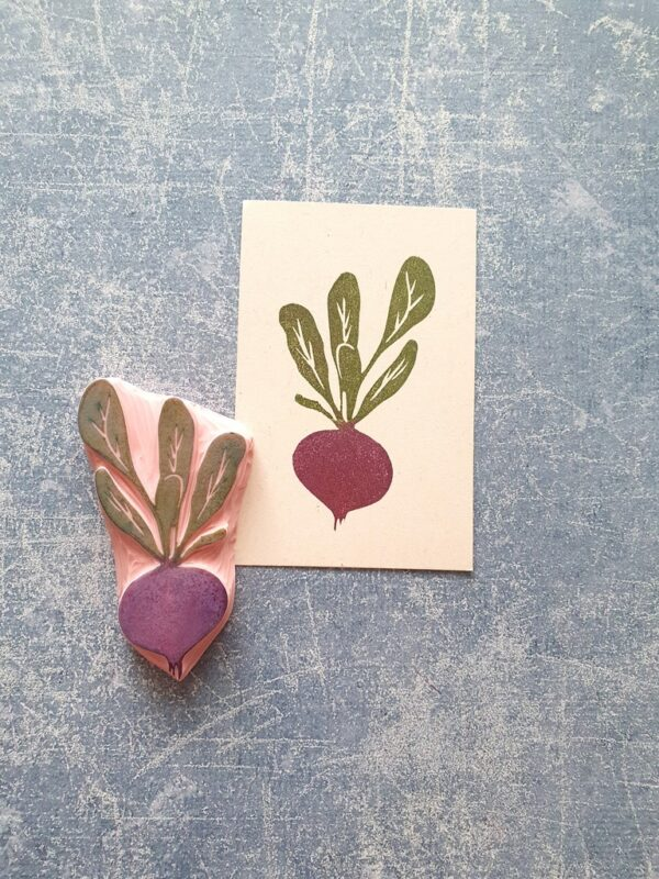 Beetroot rubber stamp, radiwh rubber stamp