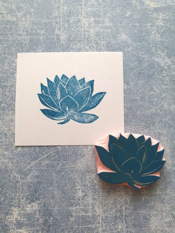 lily rubber stamp